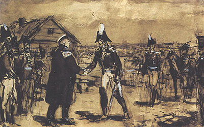 Встреча М.И. Кутузова с П.И. Багратионом под Шенграбеном
