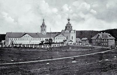 Соловки, Анзер, Свято-Троицкий скит. Фото XIX века