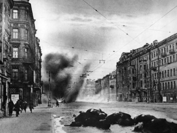 блокада Ленинграда артобстрел