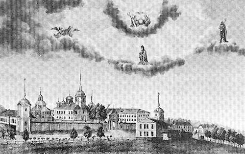 Антониево-Дымский Свято-Троицкий монастырь. И. Первухин. 1867. В наши дни монастырь восстанавливается