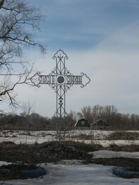 Церковь Петра и Павла - Маливо - Коломенский район - Московская область, разрушен, на его месте установлен Поклонный Крест