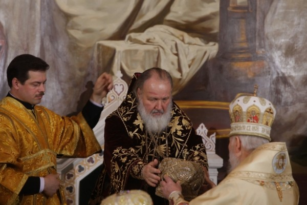 Интронизация Патриарха Московского и всея Руси Кирилла, храм Христа Спасителя, Москва, 1 февраля 2009 года 11