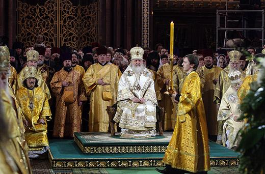 Интронизация Патриарха Московского и всея Руси Кирилла, храм Христа Спасителя, Москва, 1 февраля 2009 года 111