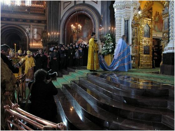 Интронизация Патриарха Московского и всея Руси Кирилла, храм Христа Спасителя, Москва, 1 февраля 2009 года 113