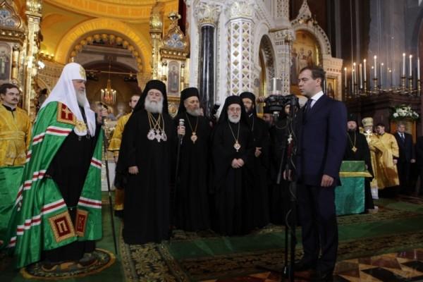 Интронизация Патриарха Московского и всея Руси Кирилла, храм Христа Спасителя, Москва, 1 февраля 2009 года 117