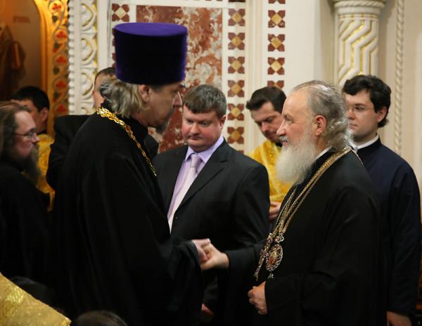 Интронизация Патриарха Московского и всея Руси Кирилла, храм Христа Спасителя, Москва, 1 февраля 2009 года 118