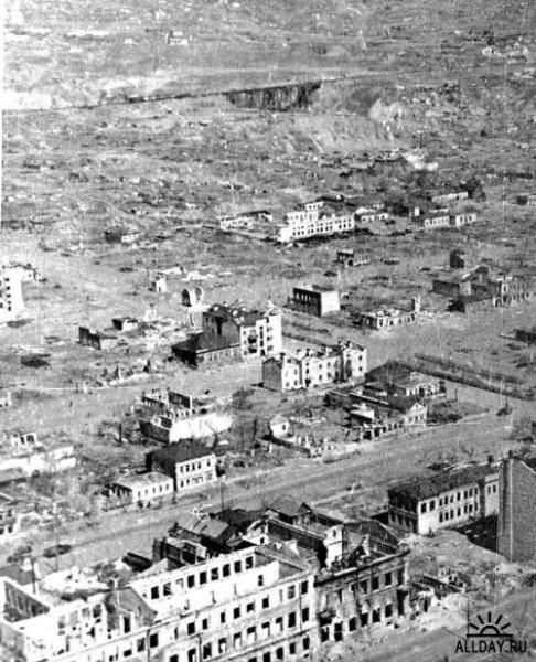 Руины Сталинграда с высоты птичьего полета