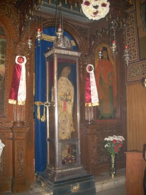 Рака с мощями Иосифа Освященного, церковь Вседержителя в Гайтани. Закинф