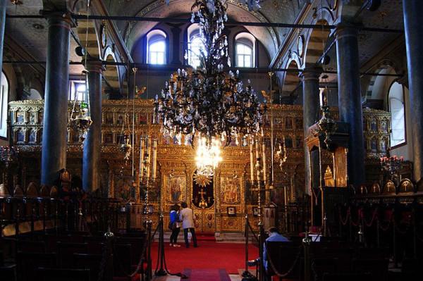 главный храм Константинопольского патриархата - собор Святого Георгия, внутреннее убранство