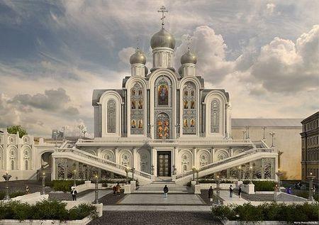 строящийся собор в честь Новомученников и Исповедников Российских, Сретенский монастырь, Москва