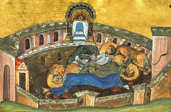 Мученики Сильван, епископ, Лука, диакон и Мокий, чтец