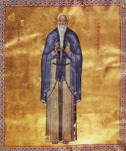 Преподобный Петр Галатийский, Молчальник