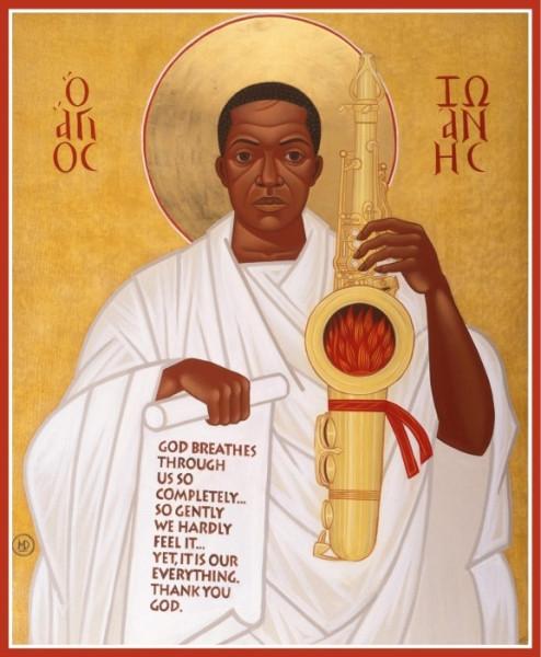 псевдоправославные иконы - Святой Джон Колтрейн африканская секта гавриитов