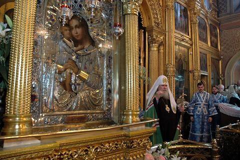 икона Богородицы Взыскание погибших в церкви Воскресения Словущего на Успенском Вражке