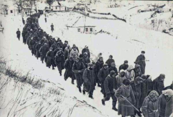 Корсунь-Шевченковская операция - пленные немецкие солдаты
