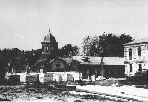 Коряжемский Николаевский монастырь в начале 90-х годов - начало восстановления после разрения монастыря