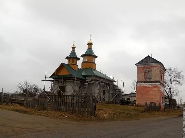 Новая церковь Николая Чудотворца в поселке Тимковичи, Белорусь - начало строительства 1999 год