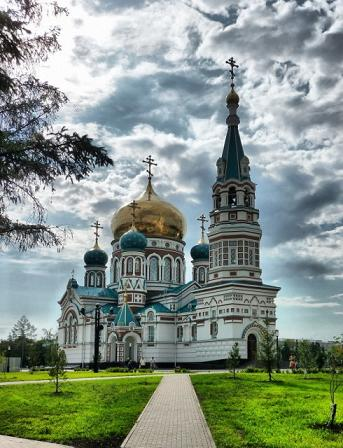 Омский собор в честь Успения Пресвятой Богородицы - в наши дни