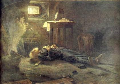 А. Новоскольцев. Смерть Патриарха Ермогена