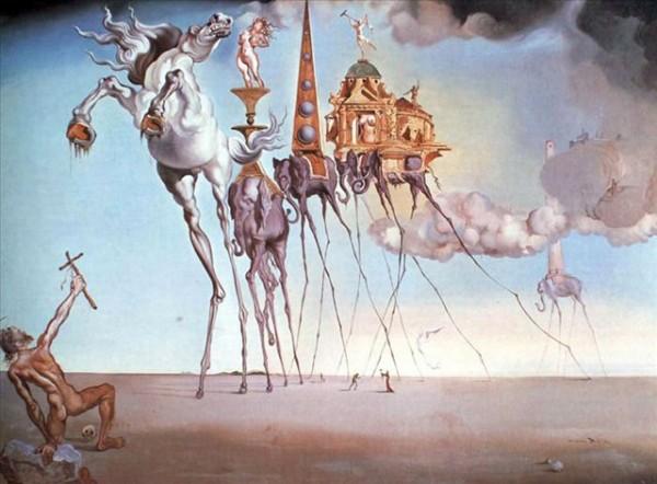 Искушение святого Антония - Дали Сальвадор ( Salvador Dali )