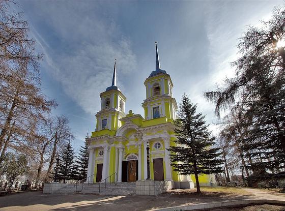 Троицкая церковь в селе Троицкое-Кайнарджи (Павлино), г. Железнодорожный