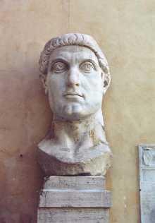Константин Великий. Голова статуи. Римский Капитолийский музей.
