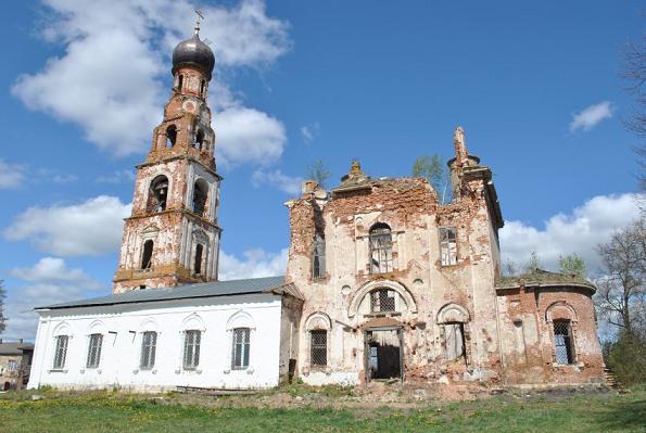 Церковь Вознесения Господня - Теряево - Волоколамский район, восстанавливается