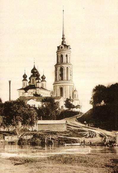 Воскресенский собор города Шуя. Почтовая открытка начала XX века
