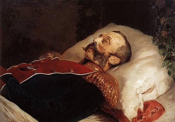 Император Александр II на смертном одре