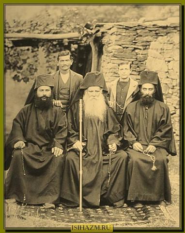 Афонское братство, 1880-е годы, из фотоархива Святогорского монастыря Симонопетра