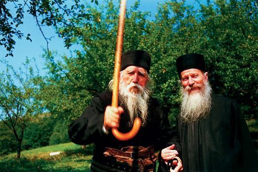 Клеопа Илие(1912-1998) с отцом Иоанникий Балан  (Ioanichie Bălan) (1930-2007)