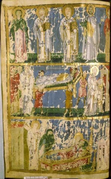 Святой Григорий Богослов с родителями. Погребение святого Кесария Назианзина. Кончина святой Горгонии