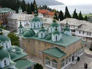 Афон, Свято-Пантелеимонов монастырь, храм прпп. Герасима Иорданского и Иеронима Стридонского