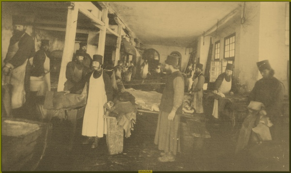 Афон Русский Монастырь 1860-70е гг. Послушания на выделке кож