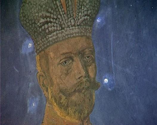фреска св. Николай II, монастырь Жича, Сербия