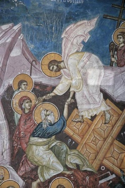 Сошествие во ад. Христос изводит Адама и Еву из ада