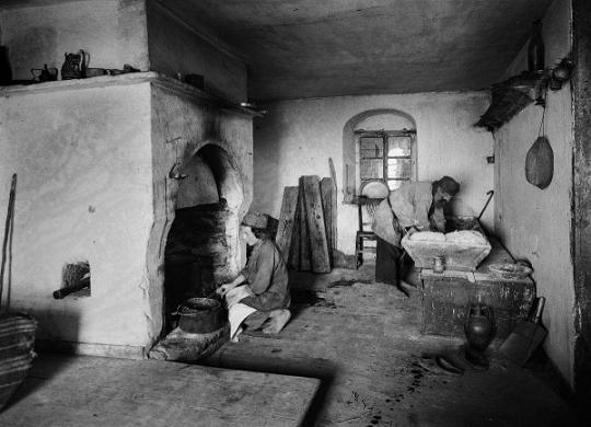 Послушание, Афон, фото П. Севастьянова, XIX век