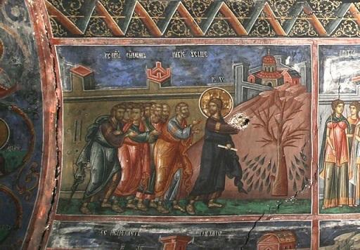 Великий Понедельник. Проклятие смоковницы. Печская патриархия. XIV в