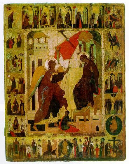 Икона Богородицы «Благовещение» Московская
