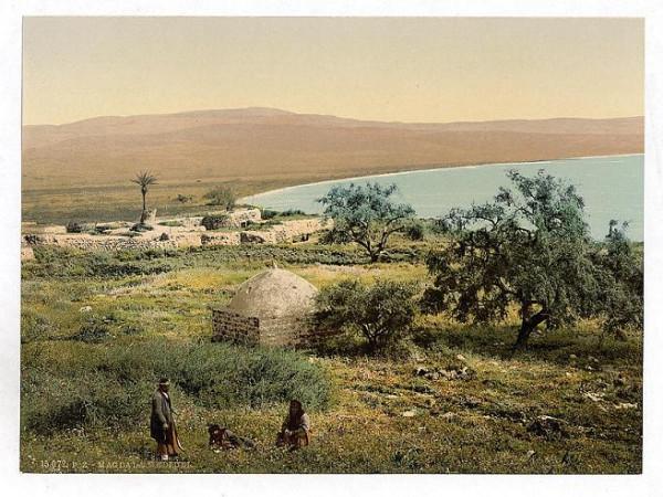 Магдала. Расположена в Галилее, в 3 км севернее города Тверия, на берегу Кинерета. Согласно преданиям является местом рождения Марии Магдалины