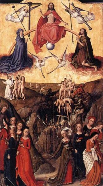 Страшный суд и притча о десяти девах. Неизв. фламандский художник, сер. XV века