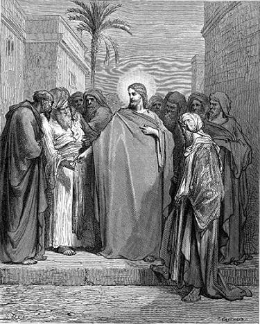 Христос и динарий. Гравюра Гюстава Дорэ