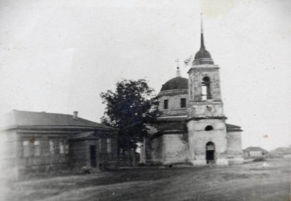 Церковь Иоанна Богослова - Тимошкино - Шиловский район - Рязанская область, фото 1 мая 1914 года (автор - Алексей Байрошевский)