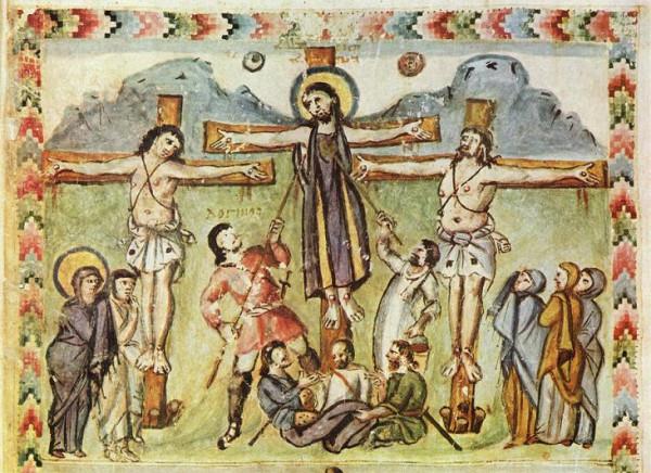 Одно из самых ранних изображений сцены распятия
