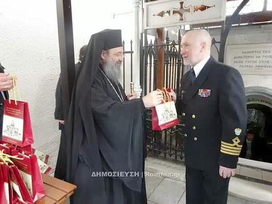 Митрополит Патрский Хризостом встретился с экипажем барка «Крузенштерн» 3