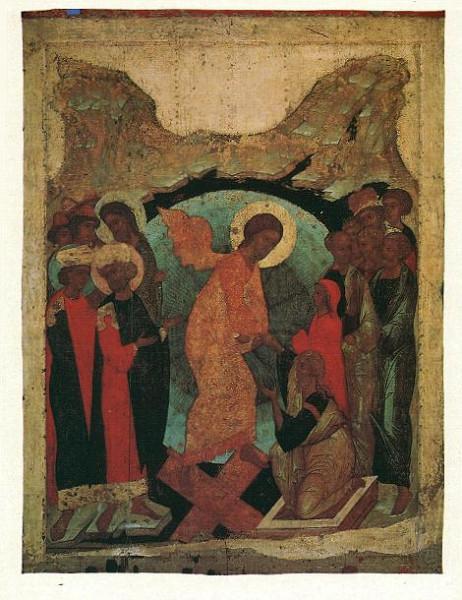Сошествие во ад. Андрей рублев, Даниил Черный и мастерская. 1408 г.