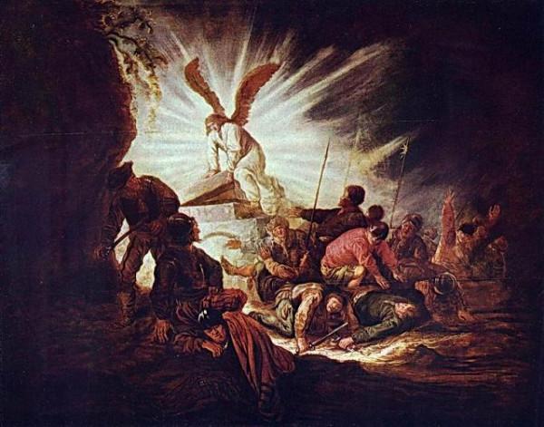 Кейп Беньямин Геррит « Ангел отваливает камень от гроба Господня