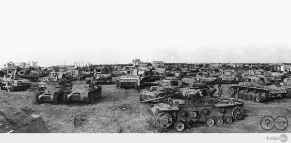 Трофейные немецкие танки юго-западнее Сталинграда. Демонстрация 14 апреля 1943 г.