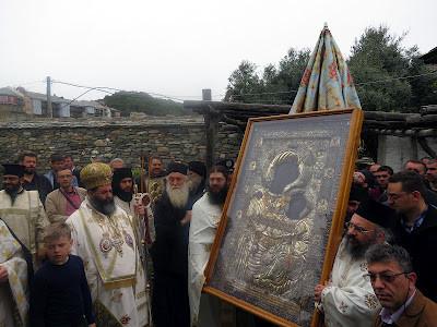 Крестный ход, икона «Виматарисса», Ктиторская, Ватопед, вторник Светлой Седмицы