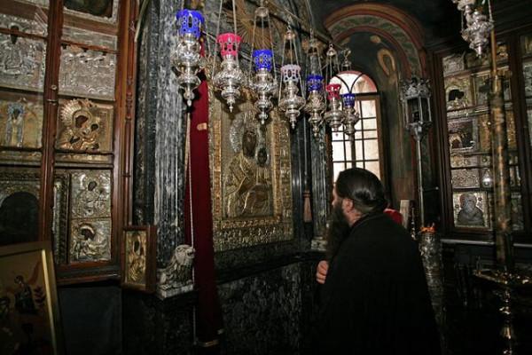 Крестный ход, икона «Виматарисса», Ктиторская, Ватопед, вторник Светлой Седмицы 1